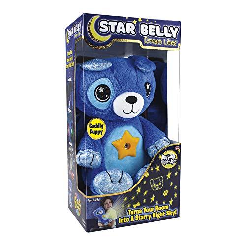 Ontel Star Belly Dream Lites, Stuffed Animal Night Light, Cuddly Blue Puppy