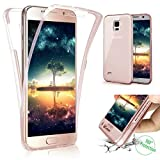 Galaxy Note 4 Case,ikasus [Full-Body 360 Coverage Protective] Crystal Clear Ultra-Slim Scratch-Resistant Front Back Full Coverage Soft Clear TPU Silicone Rubber Case Cover for Galaxy Note 4,Rose Gold