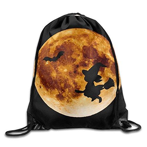 Bat Silhouette For Halloween Print Drawstring Backpack Rucksack Shoulder Bags Gym Bag Sport Bag