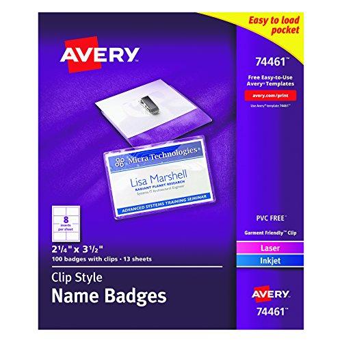 Avery Garment Friendly Top Loading Badges