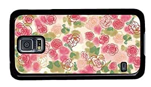 Hipster amazing Samsung Galaxy S5 Case rose buds art PC Black for Samsung S5 by runtopwell