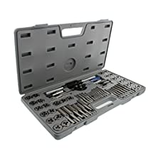 ABN Metric and SAE Standard Tap and Die 60-Piece Rethread Set Rethreading Kit for Cutting External and Internal Threads