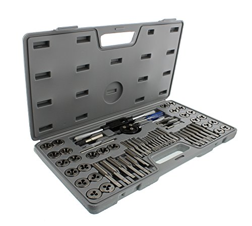 ABN Metric and SAE Standard Tap and Die 60-Piece Rethread Set Rethreading Kit for Cutting External and Internal Threads by ABN