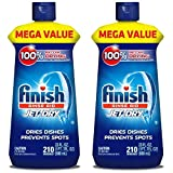 Finish Jet-Dry Rinse Aid, 23oz, Dishwasher Rinse Agent & Drying Agent - 2-Pack