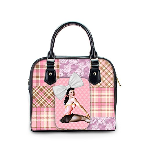 Handbag Top Women Fashion Handle Crossbody Bag FOR DESIGNS Leather PU Pink U YWwAX8
