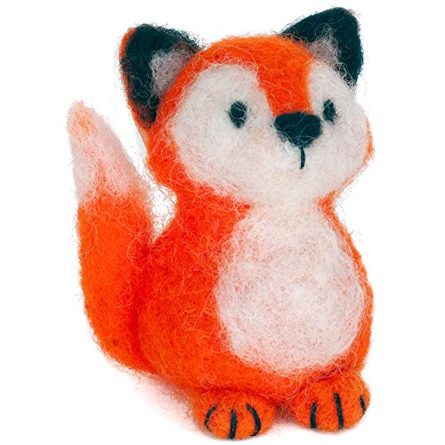 Dimensions Fox Felt Animals Needle Felting Kit, 3'' x 2.5''