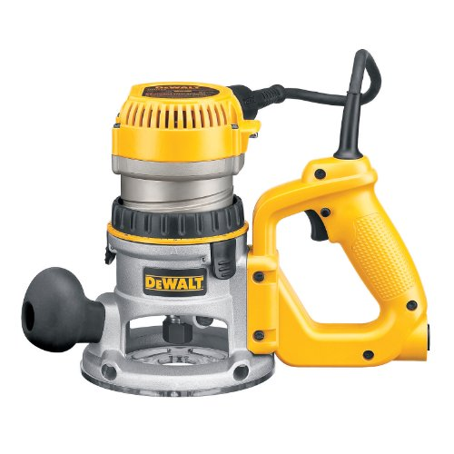 DEWALT DW618D 2-1/4 HP Electronic Variable Speed D-Handle Router with Soft Start by DEWALT