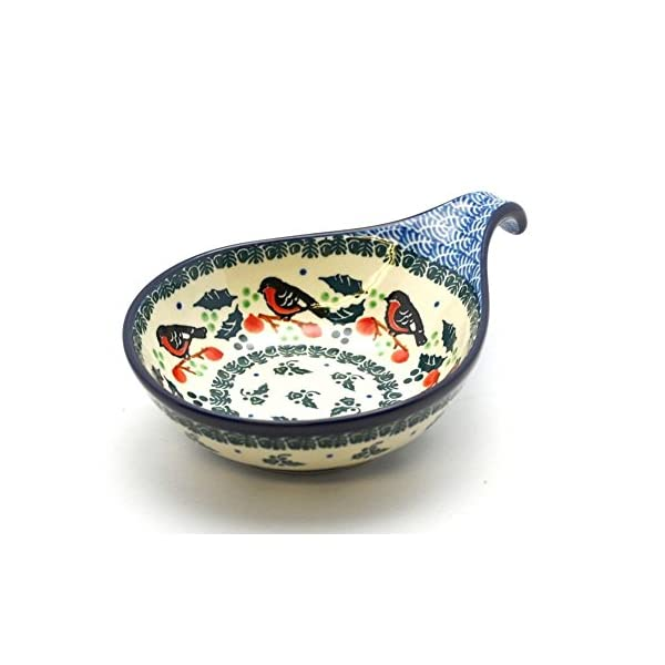 Polish Pottery Spoon/Ladle Rest – Red Robin