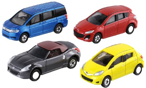 Tomica - Let's Play City Parking - 4 Cars Set
