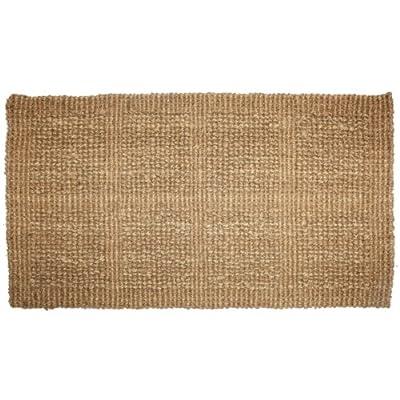 J & M Home Fashions Plain Tile Loop Woven Coco Doormat