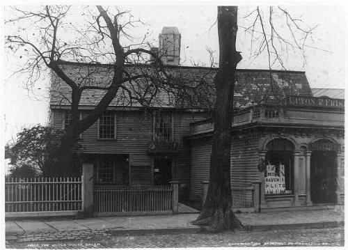 Photo: Witch house,antique dealers,shops,homes,Salem,Massachusetts,MA,H Peabody,c1911