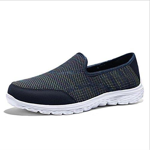 SHINIK Zapatos de mujer Lienzo Primavera Verano Shake Zapatos transpirable Ligero plana con zapatos casuales de las mujeres, Lazy Sneakers F