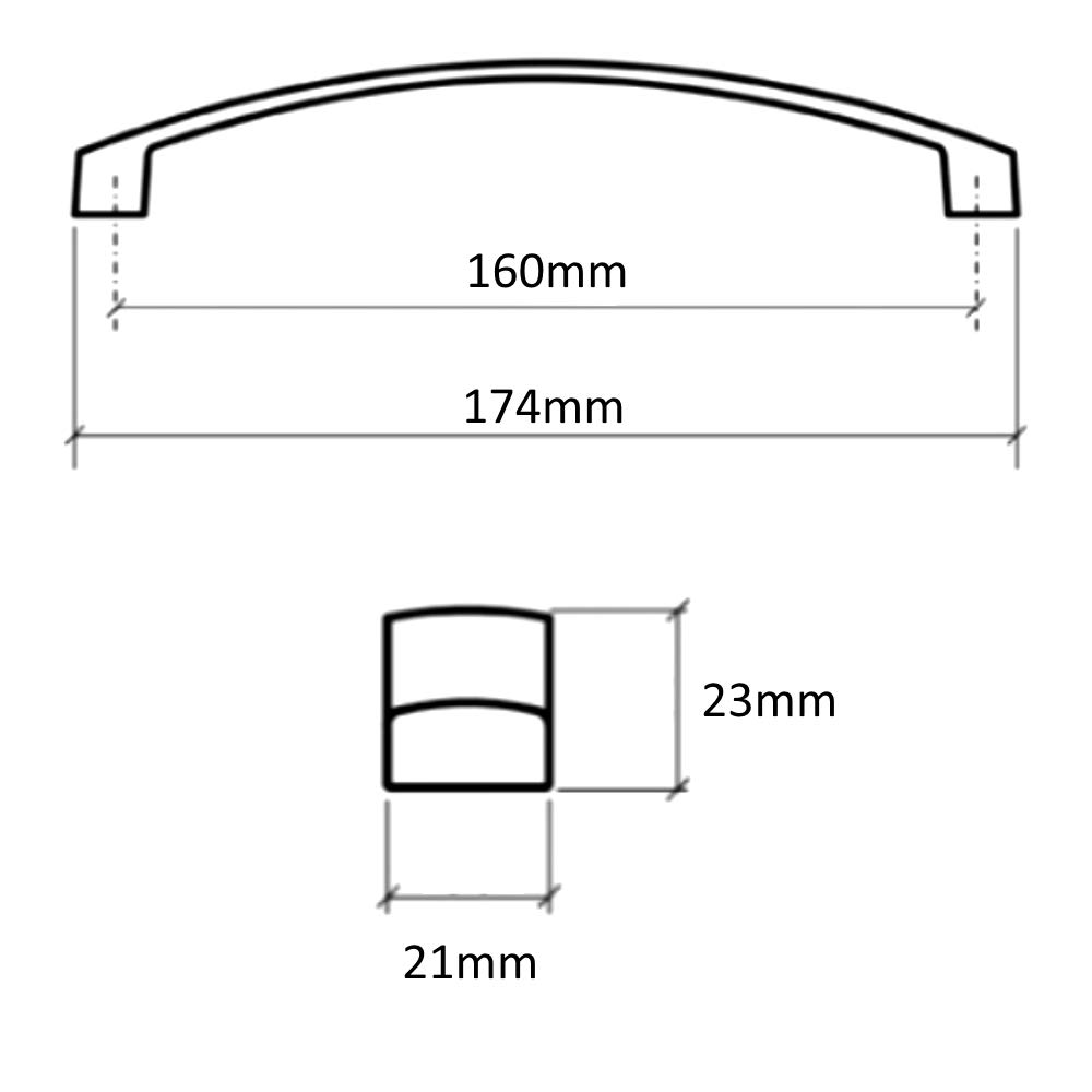 AERZETIX 2x Tirador para caj/ón alacena puerta mueble armario Garaet cromo 160mm C41693