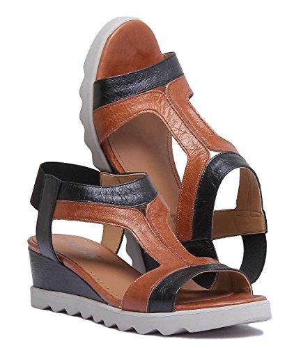 Brown The Womens Sandal Flexx Little Tony Matt Black Leather fWpWTgqwHx