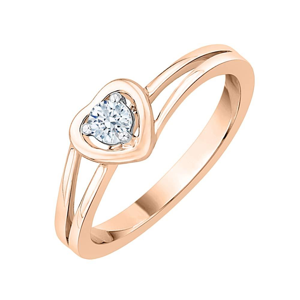 Diamond Wedding Band in 10K White Gold Size-6.5 G-H,I2-I3 1//8 cttw,
