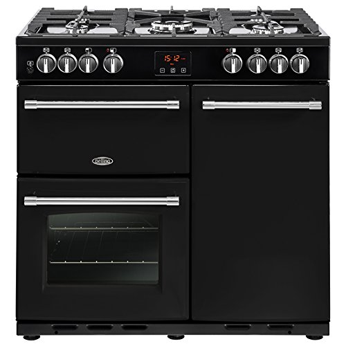Belling Farmhouse 90 DFT Range cooker Gas Stove Black - Ovens and Cookers...