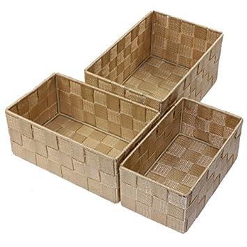 Unbekannt Aufbewahrungsbox 3er Set geflochten RECHTECKIG Badezimmer ...