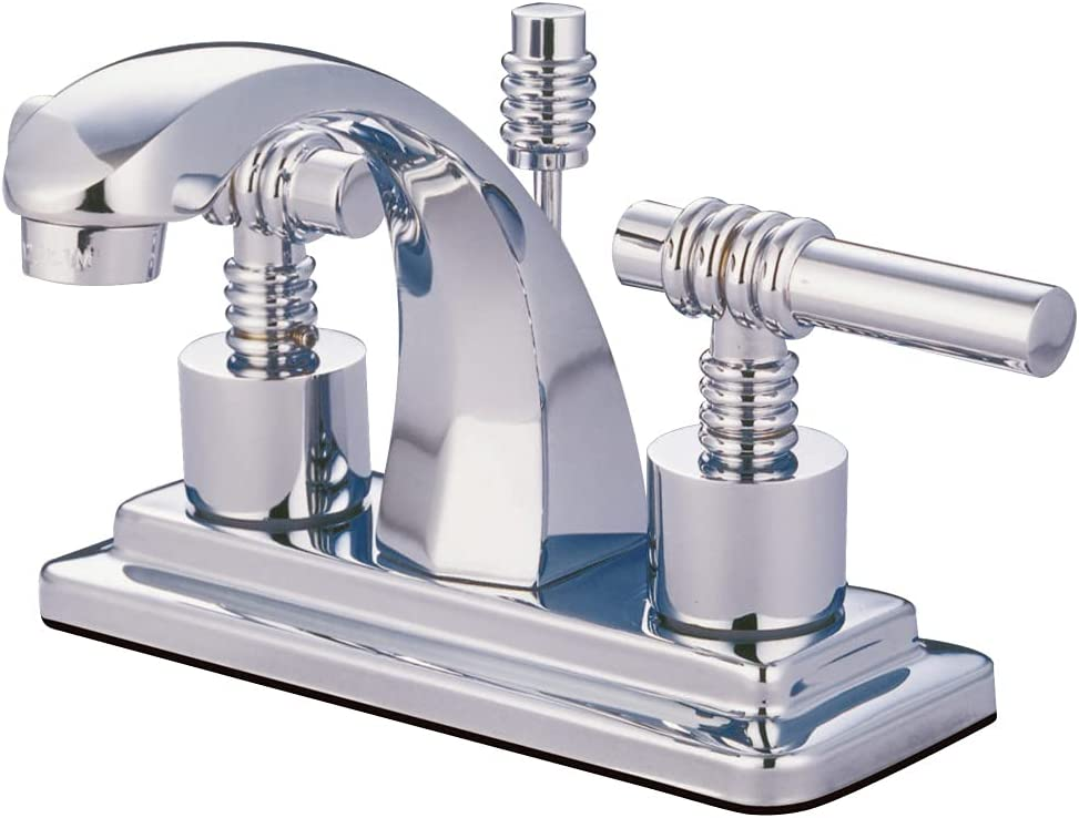 Kingston Brass KS4641ML Milano Faucet High quality new Portland Mall Lavatory 4-Inch Centerset