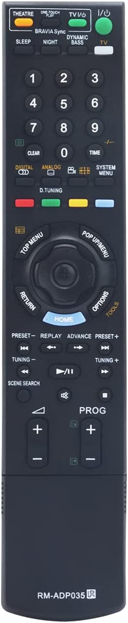 RM-ADP035 Replace Remote Control fit for Sony Blu-ray Disc BD DVD Player Home Theater System HCD-E300 BDV-E300 BDV-T11 BDV-T10 BDV-E301 BDV-E801 HCD-E801 SA-WSZ7 HCD-Z7 BDV-E800W BDV-E500W HCD-E800W