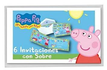 CAPRILO Lote de 18 Invitaciones Infantiles Decorativas Peppa ...