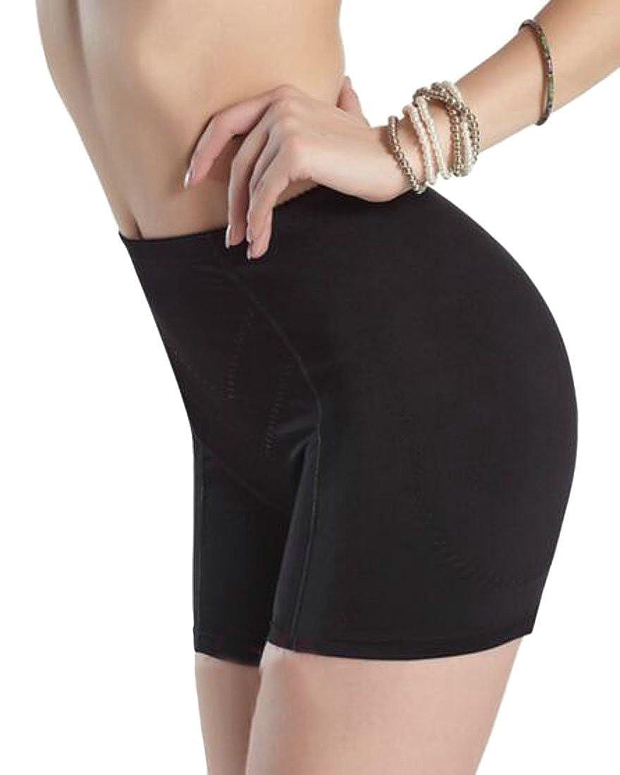 JuJuTa Ladies Padded Butt-Lifting Slim Waist Underwear Breathable Panties Boyshort