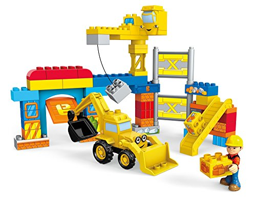 Mega Bloks Bob The Builder Work Yard Build Up Building Kit