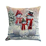 Throw Pillow Covers Merry Christmas Notekd Christmas Snowman Cushion Cover Case Pillow Custom Zippered Square Home Decor Pillowcase 18x18 for Sofa Bed Room (A)