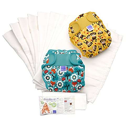 Bambino Mio, Miosoft Cloth Diaper Set, Unisex, Size 1 (<21lbs)