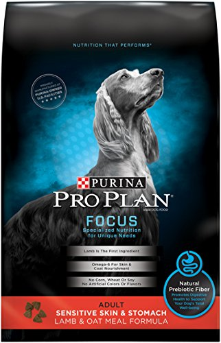 Purina Pro Plan Sensitive Skin and Sensitive Stomach Dry Dog Food; FOCUS Sensitive Skin & Stomach Lamb & Oat Meal Formula - 24 lb. Bag ()