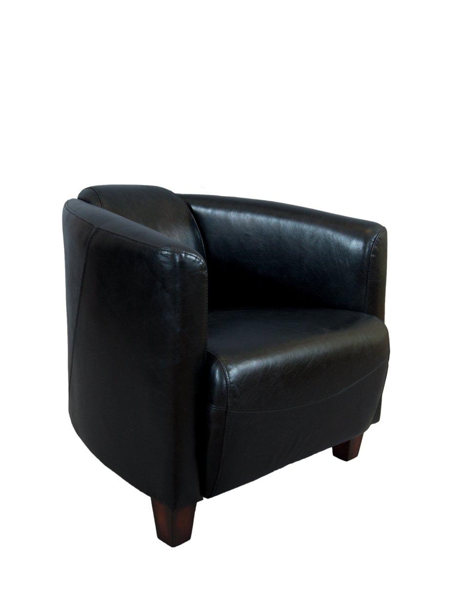 Clubsessel Rocket Leder Belon Black, schwarz