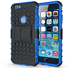 """iPhone 6S Armor Case -K-Xiang Defender[Heavy Duty] iPhone 6 Shockproof Protective Case Impact Resistant Dual Layer Armor Shell with Kickstand for Apple iPhone 6S 6 4.7"""" (Blue)"""