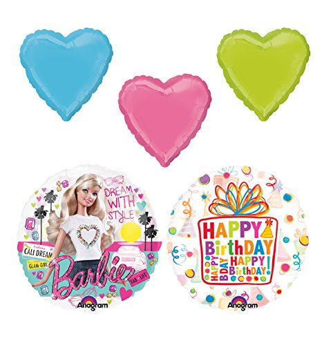 Barbie Birthday Party Supplies and Balloon Bouquet Decorations]()