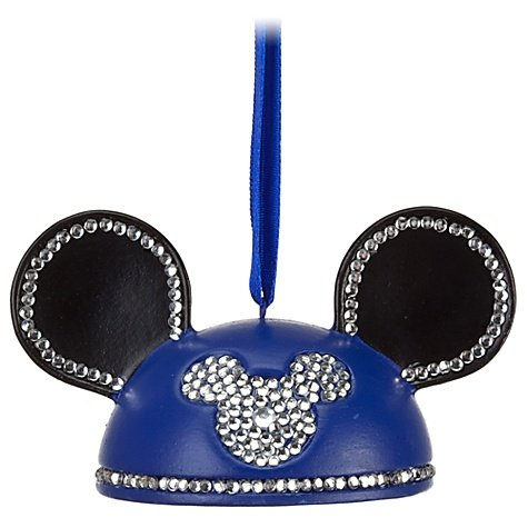 - Crystal Mickey Mouse Icon Ear Hat Ornament - LIMITED EDITION OF 3000 MADE