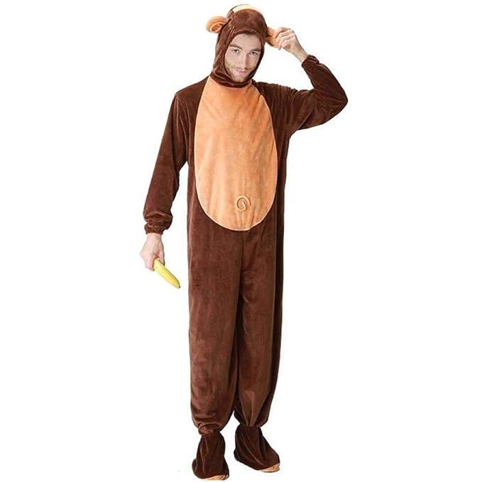 Disfraz de Mono Adulto para Hombres, Mujeres, Pijamas de Pareja ...