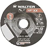 Walter HP XX Premium Performance Grinding Wheel, Type 27, Round Hole, Aluminum Oxide, 4-1/2'' Diameter, 1/4'' Thick, 7/8'' Arbor, Grit A-20-X (Pack of 25)