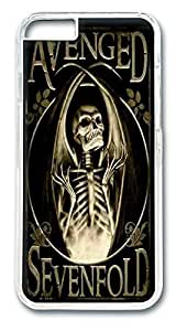 avenged sevenfold poster flag scorched Custom iphone 6 plus 5.5 Inches Case Cover Polycarbonate Transparent