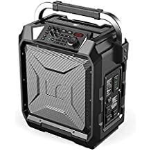 Monster Rockin' Roller 3 | 100W Portable Indoor/Outdoor Water Resistant Wireless Speaker with TWS Technology (Connect 2 Speakers Wirelessly) and NOAA Weather Radio