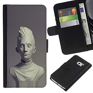 Stuss Case / Funda Carcasa PU de Cuero - Época Clásica busto de mármol - Samsung Galaxy S6 EDGE