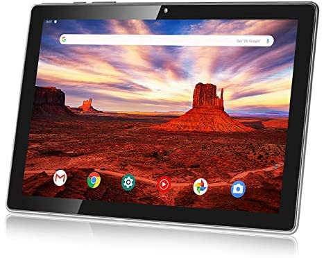 "Android 10.0 Pie Tablet 10 Inch,HAOVM MediaPad P10 Tablets Octa-Core 1.6GHz Processor,3GB RAM,32GB Storage,10.1"" IPS HD Display Screen,5G WiFi,128GB Expand,6000mAh,GPS,Type-C Port,Brushed Texture Back"