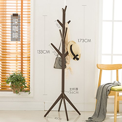 Floor coat rack,Bedroom racks storage creative simple solid