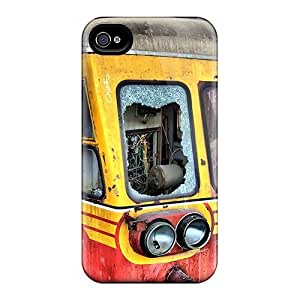 For Iphone 4/4s Tpu Phone Case Cover(aboned Train Hdr) by runtopwell