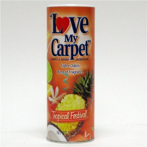 12 Pack- Love My Carpet Tropical Festival Carpet Deodorizer (Case) by Love My Carpet (Image #1)