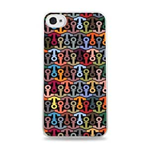 Colored Anchors White Hardshell Case for iPhone 6 (4.7 inch) i6