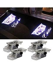 Car Door Logo Lights Projector LED Ghost Light 3D Shadow Lights for Cadillac SRX ATS ATS XT6 XT4 XT5 Dual Plug Puddle Lights Caddy Welcome Door Courtesy Lights Car Accesories Door Lights 4 Pack