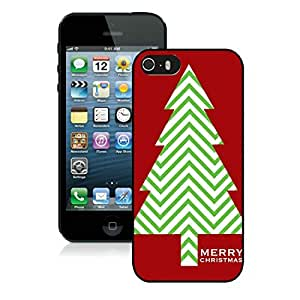Customization Iphone 5S Protective Cover Case Christmas Tree iPhone 5 5S TPU Case 15 Black