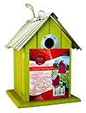 Hamble Wild & Garden Bird Deluxe Fir Wood Wooden Hanging Nest Nesting Box (Pack Of 3)