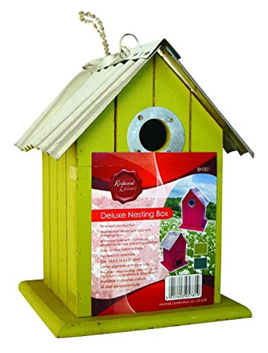 Hamble Wild & Garden Bird Deluxe Fir Wood Wooden Hanging Nest Nesting Box (Pack Of 3) by Hamble
