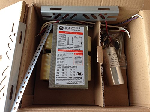 (GE 87213 GEM1000ML5AA5-5 120/208/240/277/480-Volt Magnetic Ballast for 1000-Watt Metal Halide (Case of 2) )