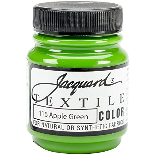 Jacquard Products Textile Color Fabric Paint 2.25-Ounce, Apple - Apples With Fabric