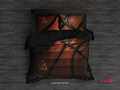 Cool Bedding`s NBA Style Basketball Bed Linen Collection. Sport inspired Duvet Cover. Comforter Upgrade NBA Stlyle Bedding Set. (Twin Set 68''x87'' $146) by Cool Bedding